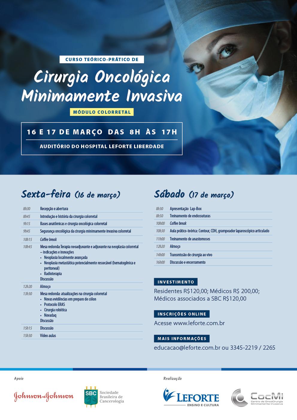 Curso Cirurgia Oncológica Minimamente Invasiva