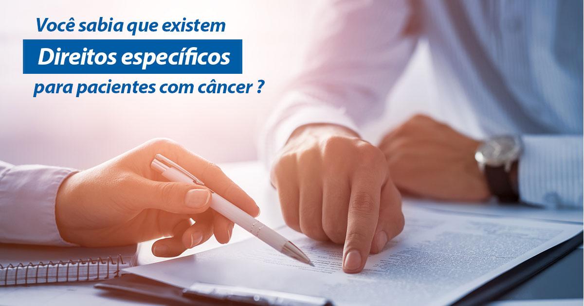 direitos jurídicos específicos para pacientes com câncer