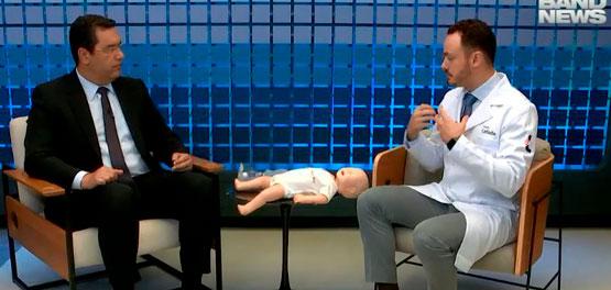 O coordenador da UTI pediátrica do Hospital Leforte, Dr. Evandro Salgado, fala sobre engasgo de crianças e bebês na Band News TV.
