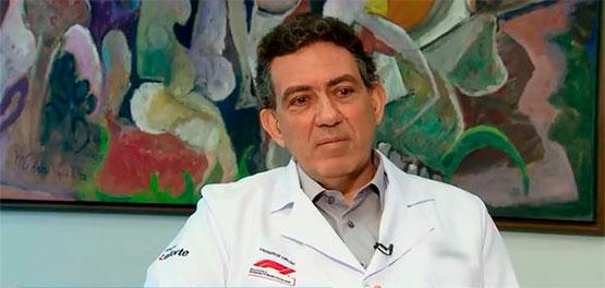 O coordenador da equipe de transplante do Hospital Leforte, Marcelo Perosa, fala sobre doação de rim no Jornal da Record