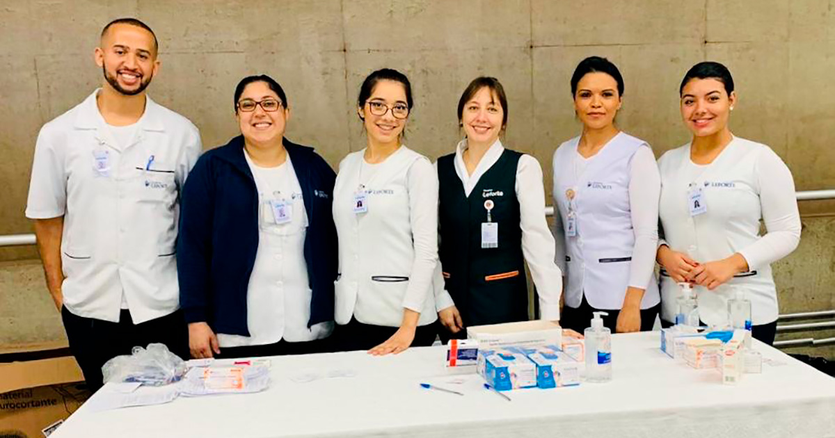 Campanha vacinação gripe metrô - Hospital Leforte