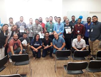 Equipe Leforte Saúde nas Empresas faz ação na Ultragaz