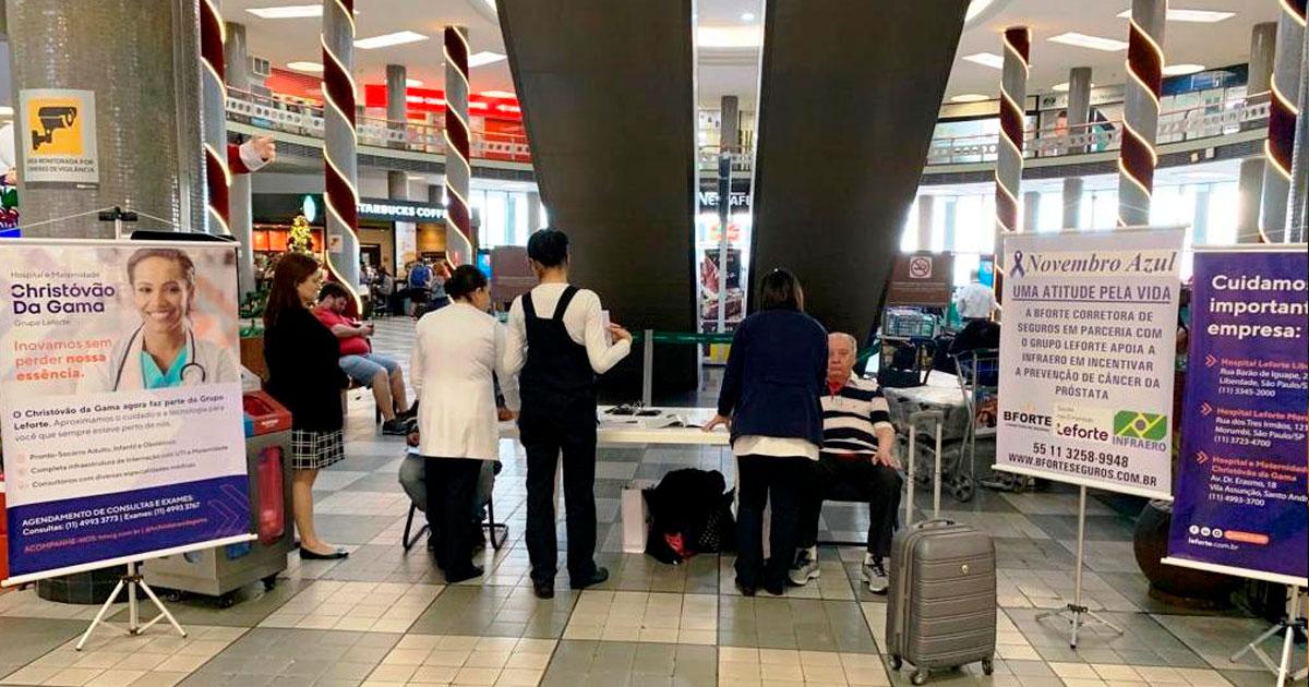 Leforte Saúde nas Empresas faz ação no Aeroporto de Congonhas