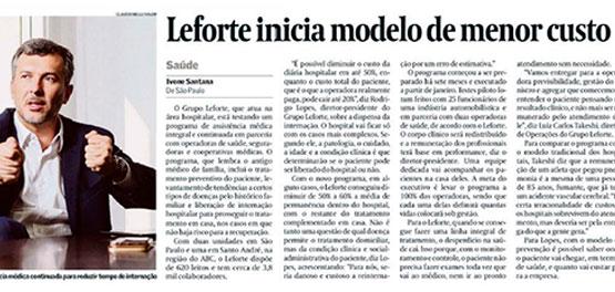 Entrevista do CEO do Grupo Leforte, Rodrigo Lopes, para o Valor Econômico, sobre o Programa Leforte Integral