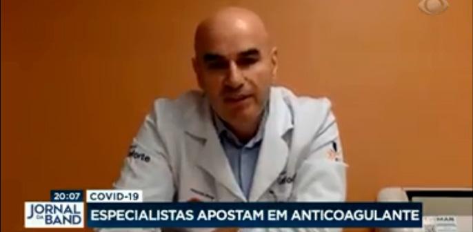 Jornal da Band: confira a entrevista do Coordenador Corporativo de UTI do Hospital Leforte, Tomaz Crochemore, sobre anticoagulante contra a Covid-19