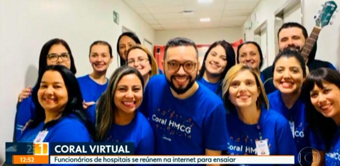 Coral Leforte não para durante a pandemia e ensaios online são tema de reportagem no SPTV - 1ª Edição, da TV Globo