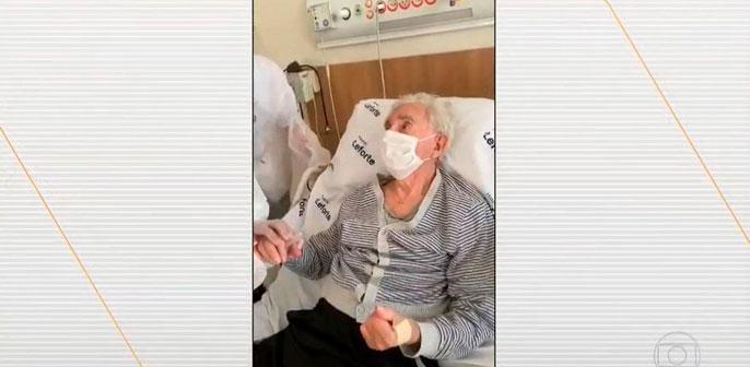 Paciente de 101 anos recebe alta do Leforte Morumbi após 15 dias internado e é destaque no Bom Dia Brasil, da TV Globo