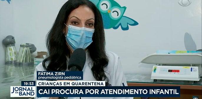 Fátima Zirn, pediatra do Kids Leforte, fala sobre queda do atendimento médico infantil durante o isolamento social