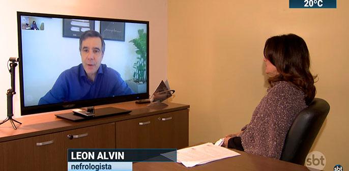 Leon Alvin fala ao SBT Brasil sobre a necessidade de hemodiálise em pacientes com covid-19