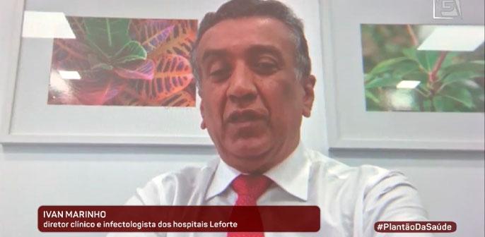 Dr Ivan Marinho fala sobre reabertura de shoppings e comércio de rua no programa Plantão da Saúde, da TV Gazeta