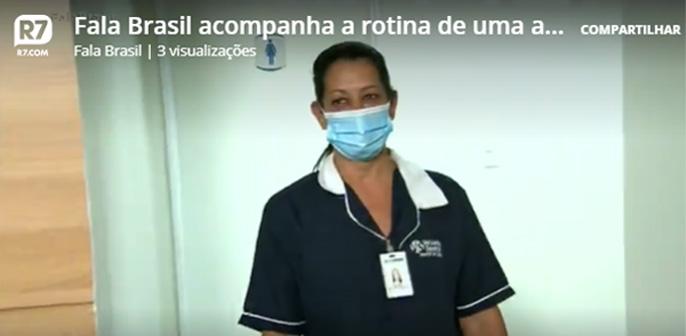 Fala Brasil, da Rede Record, acompanha a rotina de uma das profissionais de limpeza do Grupo Leforte