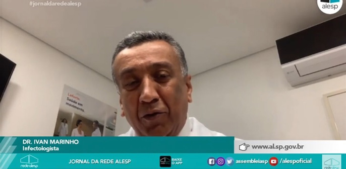 Dr. Ivan Marinho, infectologista do Hospital Leforte, fala sobre a curva dos casos de Covid-19 para a TV Alesp Anexos