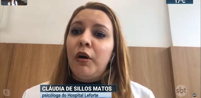 Claudia de Sillos Matos, psicóloga do Leforte Liberdade, fala ao SBT Brasil sobre o apoio psicológico dado a pacientes com Covid-19